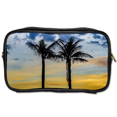 Palm Trees Against Sunset Sky Toiletries Bags