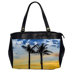 Palm Trees Against Sunset Sky Office Handbags (2 Sides)