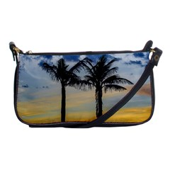 Palm Trees Against Sunset Sky Shoulder Clutch Bags