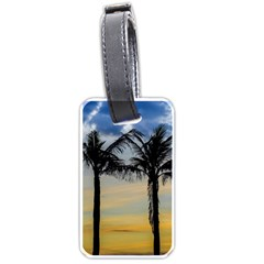 Palm Trees Against Sunset Sky Luggage Tags (One Side)