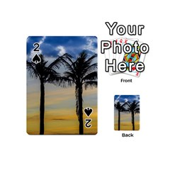 Palm Trees Against Sunset Sky Playing Cards 54 (Mini)