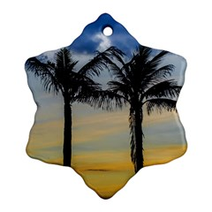 Palm Trees Against Sunset Sky Ornament (Snowflake)