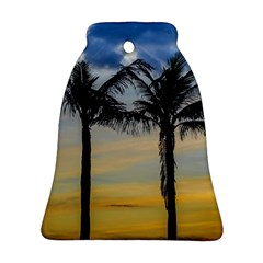 Palm Trees Against Sunset Sky Bell Ornament (Two Sides)