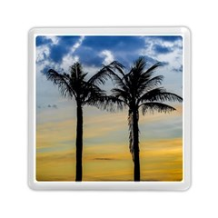 Palm Trees Against Sunset Sky Memory Card Reader (Square)