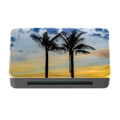 Palm Trees Against Sunset Sky Memory Card Reader with CF