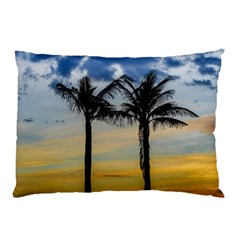 Palm Trees Against Sunset Sky Pillow Case (Two Sides)