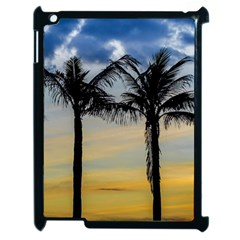 Palm Trees Against Sunset Sky Apple iPad 2 Case (Black)