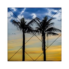 Palm Trees Against Sunset Sky Acrylic Tangram Puzzle (6  x 6 )