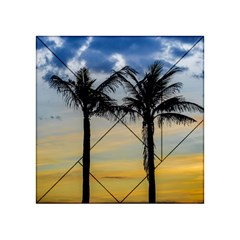 Palm Trees Against Sunset Sky Acrylic Tangram Puzzle (4  x 4 )