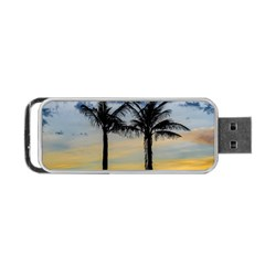 Palm Trees Against Sunset Sky Portable USB Flash (One Side)