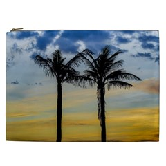 Palm Trees Against Sunset Sky Cosmetic Bag (XXL)
