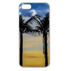 Palm Trees Against Sunset Sky Apple Seamless iPhone 5 Case (Clear)