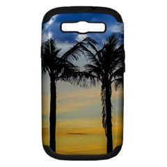 Palm Trees Against Sunset Sky Samsung Galaxy S III Hardshell Case (PC+Silicone)