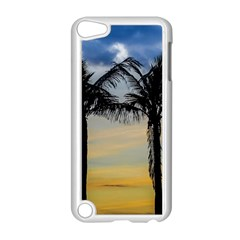 Palm Trees Against Sunset Sky Apple iPod Touch 5 Case (White)