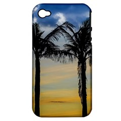 Palm Trees Against Sunset Sky Apple iPhone 4/4S Hardshell Case (PC+Silicone)