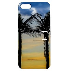 Palm Trees Against Sunset Sky Apple iPhone 5 Hardshell Case with Stand