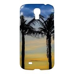 Palm Trees Against Sunset Sky Samsung Galaxy S4 I9500/I9505 Hardshell Case