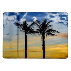 Palm Trees Against Sunset Sky Samsung Galaxy Tab 10.1  P7500 Flip Case