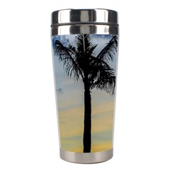 Palm Trees Against Sunset Sky Stainless Steel Travel Tumblers