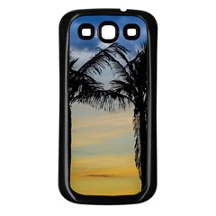Palm Trees Against Sunset Sky Samsung Galaxy S3 Back Case (Black)