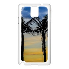 Palm Trees Against Sunset Sky Samsung Galaxy Note 3 N9005 Case (White)