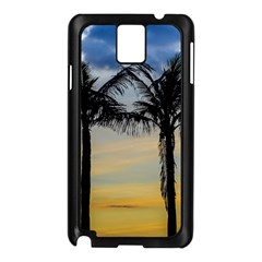 Palm Trees Against Sunset Sky Samsung Galaxy Note 3 N9005 Case (Black)