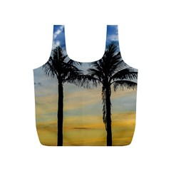 Palm Trees Against Sunset Sky Full Print Recycle Bags (S)
