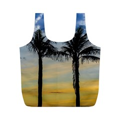 Palm Trees Against Sunset Sky Full Print Recycle Bags (m)