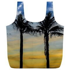 Palm Trees Against Sunset Sky Full Print Recycle Bags (L)