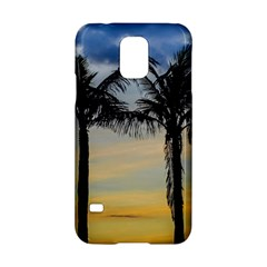 Palm Trees Against Sunset Sky Samsung Galaxy S5 Hardshell Case