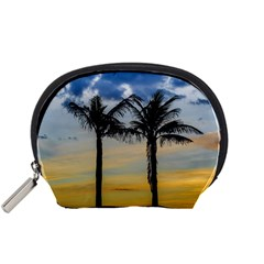 Palm Trees Against Sunset Sky Accessory Pouches (Small)