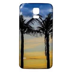 Palm Trees Against Sunset Sky Samsung Galaxy S5 Back Case (White)