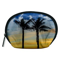 Palm Trees Against Sunset Sky Accessory Pouches (Medium)