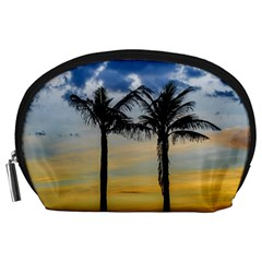 Palm Trees Against Sunset Sky Accessory Pouches (Large)