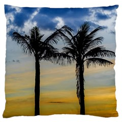 Palm Trees Against Sunset Sky Standard Flano Cushion Case (Two Sides)