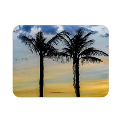 Palm Trees Against Sunset Sky Double Sided Flano Blanket (Mini)