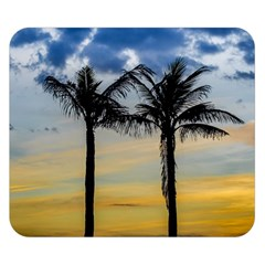 Palm Trees Against Sunset Sky Double Sided Flano Blanket (Small)