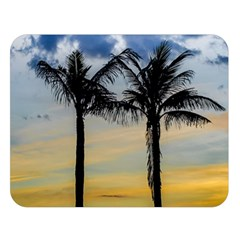Palm Trees Against Sunset Sky Double Sided Flano Blanket (Large)
