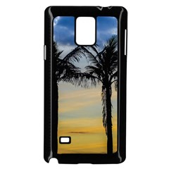 Palm Trees Against Sunset Sky Samsung Galaxy Note 4 Case (Black)