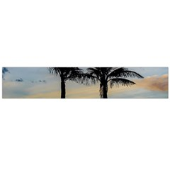 Palm Trees Against Sunset Sky Flano Scarf (Large)