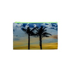 Palm Trees Against Sunset Sky Cosmetic Bag (XS)