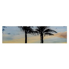 Palm Trees Against Sunset Sky Satin Scarf (Oblong)
