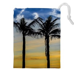 Palm Trees Against Sunset Sky Drawstring Pouches (XXL)