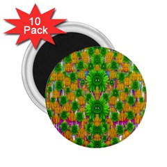 Jungle Love In Fantasy Landscape Of Freedom Peace 2.25  Magnets (10 pack)