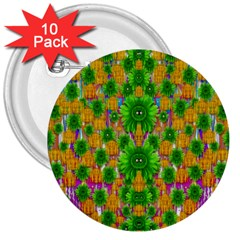 Jungle Love In Fantasy Landscape Of Freedom Peace 3  Buttons (10 Pack)
