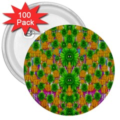 Jungle Love In Fantasy Landscape Of Freedom Peace 3  Buttons (100 pack)