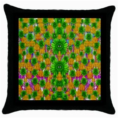 Jungle Love In Fantasy Landscape Of Freedom Peace Throw Pillow Case (Black)
