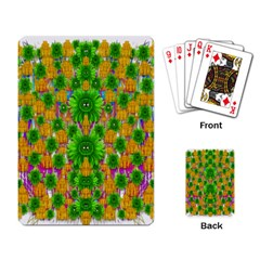 Jungle Love In Fantasy Landscape Of Freedom Peace Playing Card