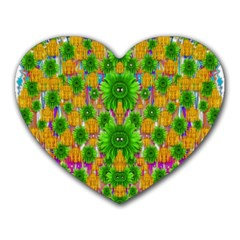Jungle Love In Fantasy Landscape Of Freedom Peace Heart Mousepads