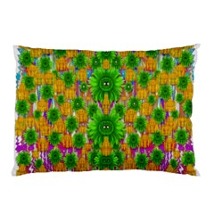 Jungle Love In Fantasy Landscape Of Freedom Peace Pillow Case (Two Sides)